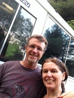 Kerry David and Suzy Bus